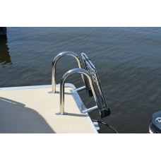 4 Step Premium Stainless Rear-Entry Folding  Pontoon Ladder