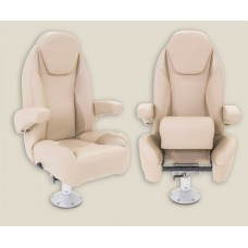 Pontoon High Back Captain Seat With Arm Rest Reclining