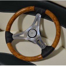 Pontoon Steering Wheel Light Mahogany