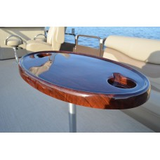 Oval Table Mahogany W/ Pedestal