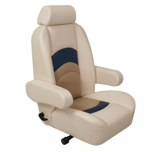 Reclining captain seat with arm rest