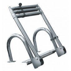 3 Step Premium Stainless Rear-Entry Folding Pontoon Ladder