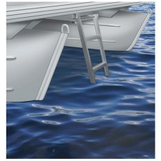 4 Step Under Deck Pontoon Ladder (Round Front Pontoon Decks)