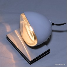 Sleek Small White White  Dock Light Pair