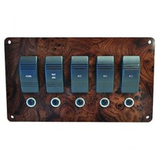 5 Switch Mahogany Fuse Panel