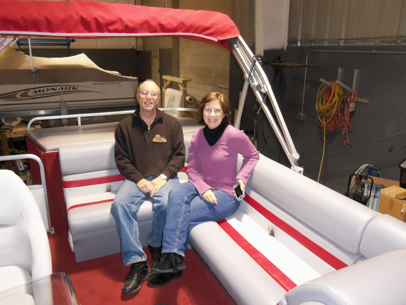 Pontoon Restored with Happy Customers